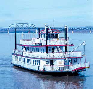 The Spirit of Jefferson Paddlewheel Steamboat on The Ohio River